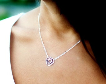 Celtic Knot NECKLACE, Tie the Knot necklace, bridesmaid gifts, Friendship necklace, love knot necklace
