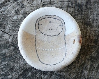 Large Beach Pottery Jizo Bodhisattva Icon - Love, Compassion, Healing, Silent, Calm, Peace, Meditation, Contemplative, Peaceful, Serene