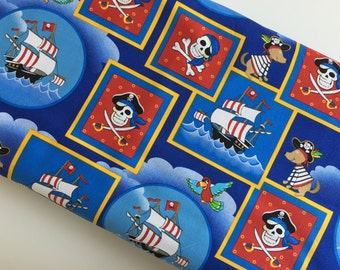 Pirate Pups Dead Man's Cove- Henry Glass - Cotton Woven sewing quilting fabric By The Yard HG-15005