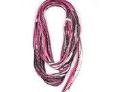 Infinity Scarf, Necklace, Fuchsia Circle Scarf, Fuchsia Infinity Scarf, Fuchsia Neon Scarf, Scarves Pink, Neon Scarf, Neon Fashion