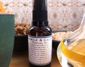 Chamomile and Calendula Facial Oil 30ml -100% Natural - For Sensitive and Dry Skins