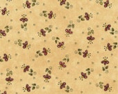Why fabric by Leanne Anderson for Henry Glass and Company.  Tan multi-colored flowers 100 percent quality cotton fabric.