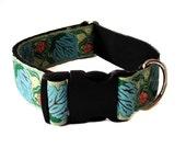 """Vintage Floral Wide Dog Collar Buckle or Martingale 1.5"""""""