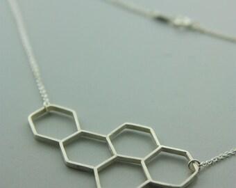 Hexagonal Bee Necklace
