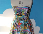 dc girls comic sweet heart dress - superheroes