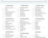 Instant Download - What's In Your Purse Bridal Shower Game -Blue Chevron - Printable PDF