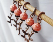 La Vie En Rose - Five Handmade Stitch Markers - Fits Up To 5.0mm (8 US) - Limited Edition