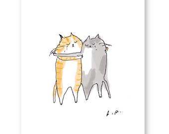 Sad Cat Card - Loss - Sympathy Card