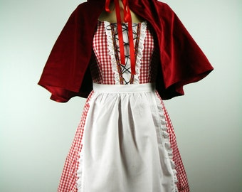 Women's Red Riding Hood Costume, Little Red Riding Hood Costume, Red Riding Hood Dress, Women's Costume, Halloween Costume