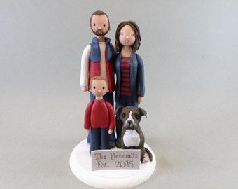 Custom Handmade Family Wedding Cake Topper