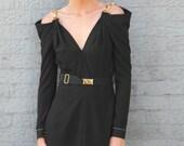 Arabelle Long Sleeve Black Dress