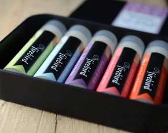 For Lip Balm Addicts, Gift Set of 5 Lip Balms, Favorites