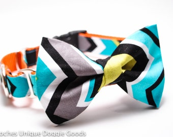 Dog Collar Bowtie / Add a Matching Bow Tie to any Collar / Choose Design / Collar Accessory