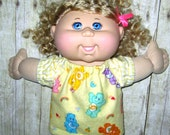 "Cabbage Patch Doll Clothes  Care Bears   Pajamas 14""  Doll Clothes Made in USA Twinkle Toe Dolls Adoptimals"