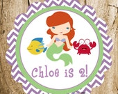 Ariel & Friends Party - Custom Party Sign by The Birthday House