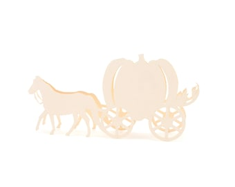 Horse Carriage Place Cards set of 10 - Escort Cards,Wedding Place CardsPumpkin Carriage,Seating Card,Pumpkin,Rustic Wedding,Disany,Priness