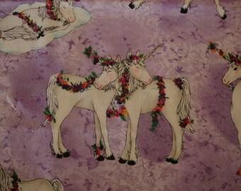 FABRIC Mark Hordyszynski Rare Unicorn Michael Miller RARE - 1 Yard #k2