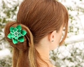 Double Flower Blossom Hair Stick