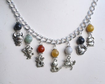 Mothers Grandmothers Personalized Family Chinese Zodiac Necklace