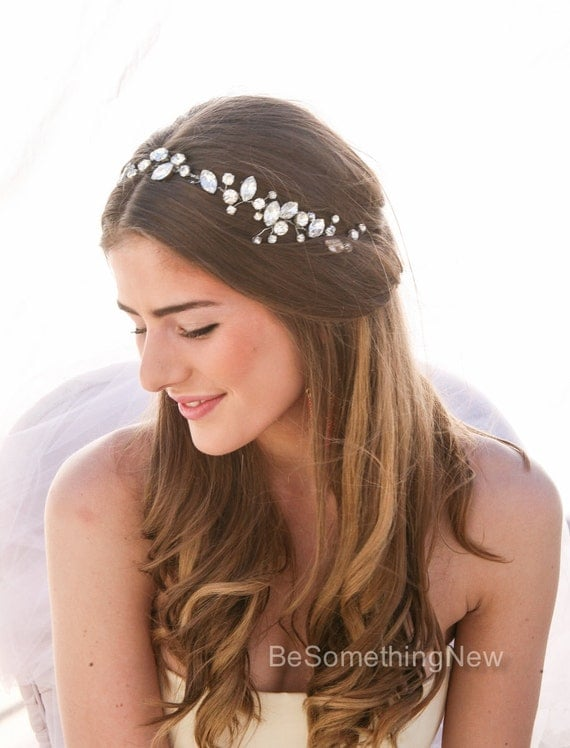 Rhinestone Wedding Hair Vine, Wired Rhinestone Wedding Hair Accessory ...