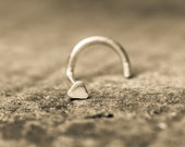Super Simple Tiny Triangle Nose Stud Hand Made in Solid Sterling Silver