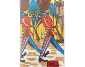 Passport wallet - The Queen's Guard soldiers vintage fabric