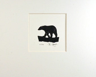 Polar Bear Hand Cut Papercut Art