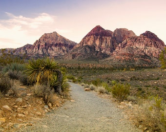 Red Rock Canyon Vegas Landscape - 8x10 Photography Print of Las Vegas Desert Art - Color or Black and White Photography Print
