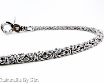 Chainmaille Wallet Chain - Stainless Steel Byzantine