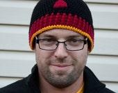 Black Widow inspired crochet beanie hat