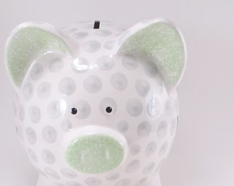 Golf Ball Piggy Bank - Personalized Piggy Bank - Golfing Ceramic Bank - Sports Theme - Golf Ball Bank - with hole or NO hole in bottom