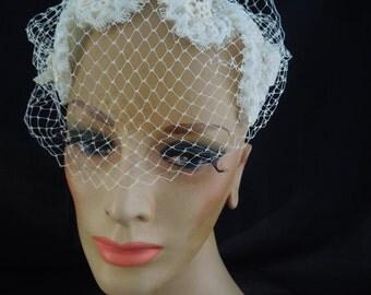 1960's Bridal Cap with Veil