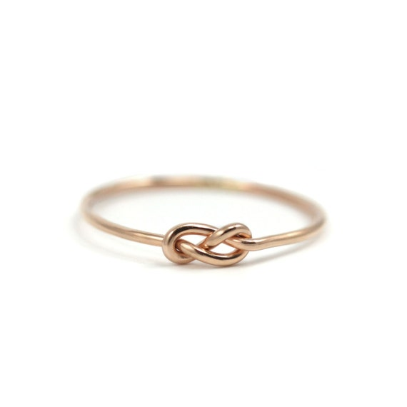 gold infinity knot ring handmade gold filled knot ring