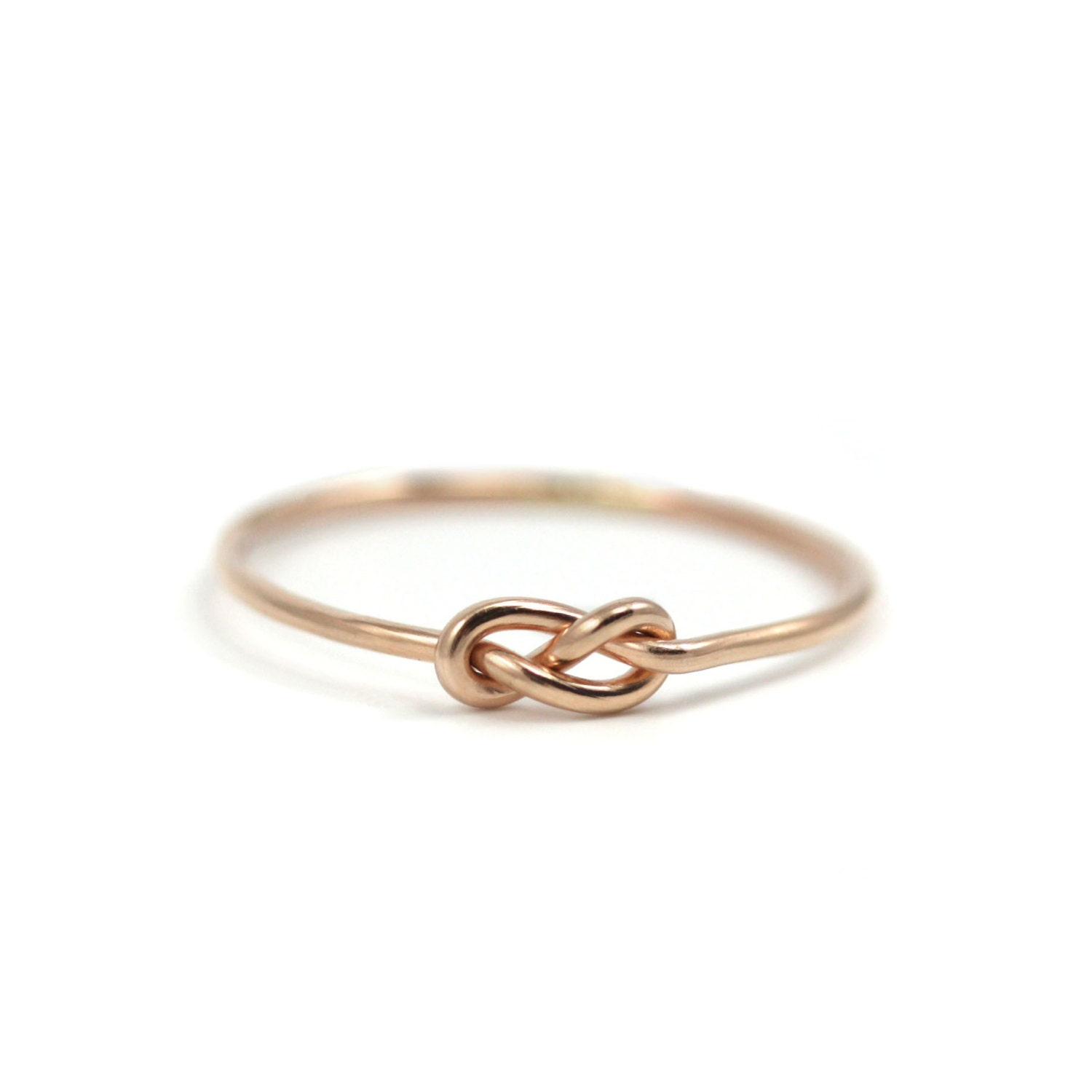 Favori Bague infini délicate rose Gold-Filled nœud infini rose or JU46