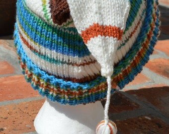 Earth and Sky Knitted Stocking Cap