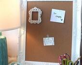 White Cork Board, Display Board, White Ornate, Pin Board, Collage Frame, 16x20 Frame