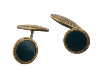 Pair of vintage round mens cufflinks