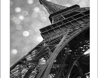 Paris Photography, Eiffel Tower Black and White Photography, Eiffel Tower Celestial Art Print, Eiffel Tower Architecture Black and White Art