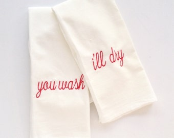 Tea towels - set of 2 - flour sack towels, 100% cotton
