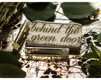 behind the green door - perfume oil mini sampler - 2 vials - spruce, wild woods, coriander & wild peppermint meticulously forged to seduce