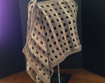 50% OFF SALE - Sand Dune Crocheted Shawl/Scarf/Wrap