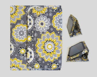 Galaxy Tab S2 Case, Fire HD 10 Case, Nexus 9 Case, Kindle Fire HDX 8.9 Case, Samsung Galaxy Tab 10.1, Nexus 10 Case Yellow and Grey