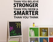 Always Remember You are Braver Than You Believe Quote Vinyl Wall Decal Nursery Quote Decal