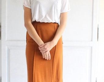 vintage deadstock 60s wool pencil skirt