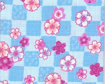 Cherry Blossom Material - 100% Cotton - 30cm x 50cm (11.8 x 19.7 inches) - Reference 16-17
