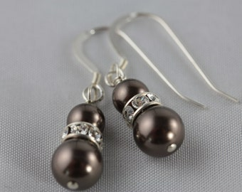 Vintage-inspired Swarovski Pearl & Crystal Roundel Earring