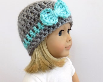 Doll Hat, 18 Inch Doll Beanie, Knit Doll Clothes, Girl Doll Accessories