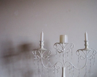 Unity Creme Brule 3 Candle Candelabra Or Candle Holder MADE TO ORDER