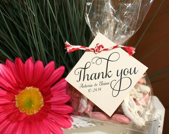 Thank You Wedding Favor Tag, Personalize Favor Tags