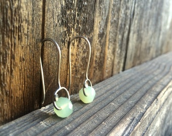 Gemstone Earrings, Sterling Silver, Lightweight Earrings, Earthy Jewelry